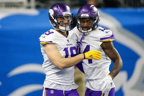 Tons of awesome stefon diggs wallpapers to download for free. Stefon Diggs and Adam Thielen are Vikings Superstars