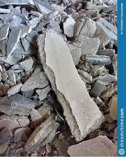 Concrete Debris Rubble Renovation Project Dirt Pile