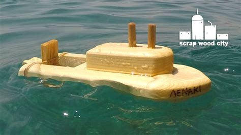 Toy Boat In Sea by Scrap Wood City How To Make A Wooden Toy Boat