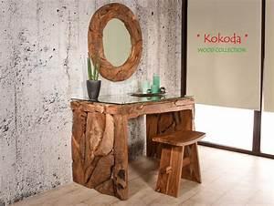 Spiegel Rund Groß : teak wurzelholz spiegel kokoda rund gro wandspiegel flur schmink teakholz bad ~ Indierocktalk.com Haus und Dekorationen