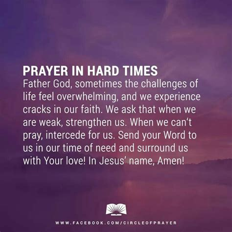 Write down one of these verses to reflect on in times of need. Prayer in hard time | God quotes hard times, Prayers for strength, Prayers