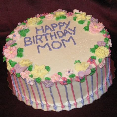 A birthday cake, traditionally, will be made from bright colours as well as in an intricate pattern or style. Birthday Cake Ideas For Mom 2014   Birthday cake, Cake