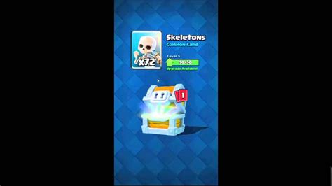 clash royale opening arena 3 chest in clash royal 132 card chest
