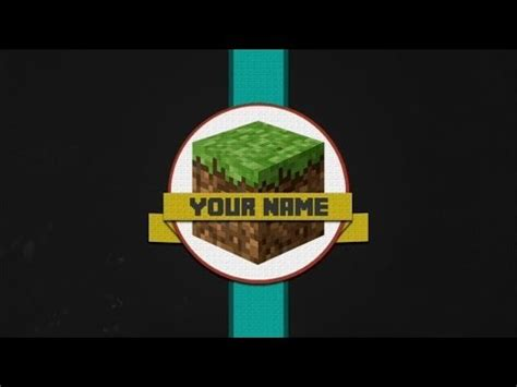 minecraft intro template  maker youtube