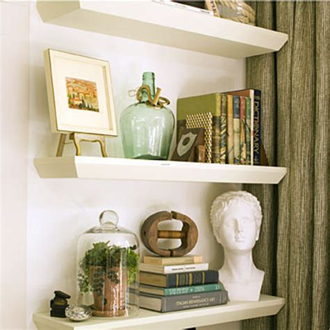 Decorating Bookshelves In Family Room by Living Room Decorating Ideas Floating Shelves