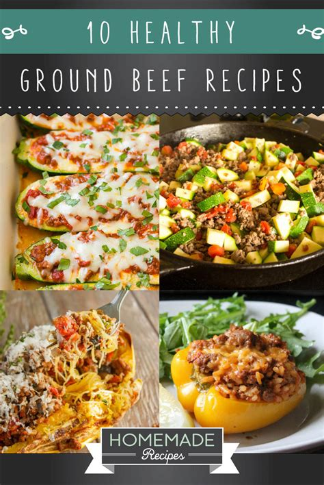 10 healthy ground beef recipes