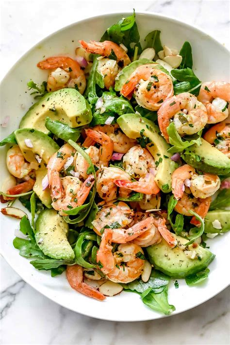 shrimp salad citrus shrimp and avocado salad foodiecrush com