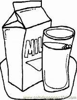 Milk Coloring Printable Foods General Pdf Coloringpages101 Getcolorings sketch template