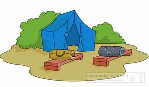 Camping : tent-setup-at-campground-clipart-6224 ...
