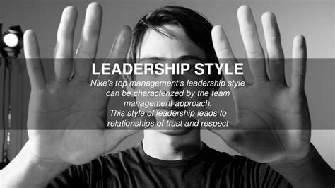 leadership style nikes top managements