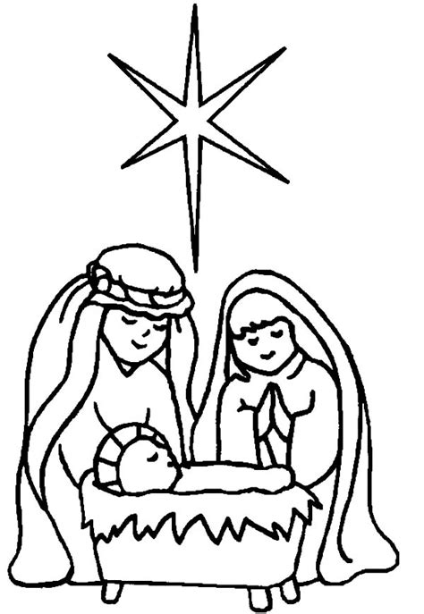 star  bethlehem  born  baby jesus coloring page kids play color