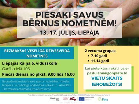 Bezmaksas veselīga dzīvesveida nometnes Liepājā! - OnPlate