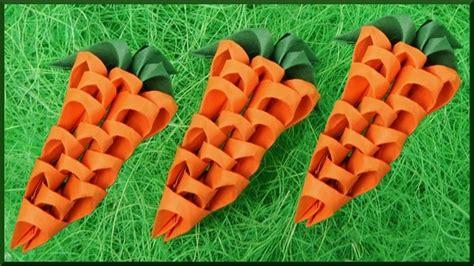 diy  origami ostern karotte aus papier tischdekoration