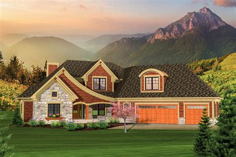 angled garage home plan ah architectural designs house plans