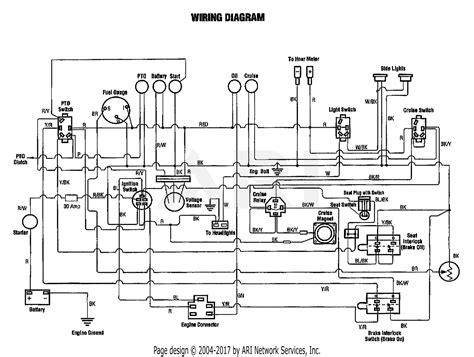 Troy Bilt Bronco Electrical Wiring Diagram by Troy Bilt 13076 20hp Hydro Garden Tractor S N