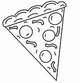 Pizza Coloring Pages Printable Slice Cookie Clipart Whole Cliparts Template Italian Sheets Fraction Pdf Preschool Google Crafts Mane Gucci Getcolorings sketch template