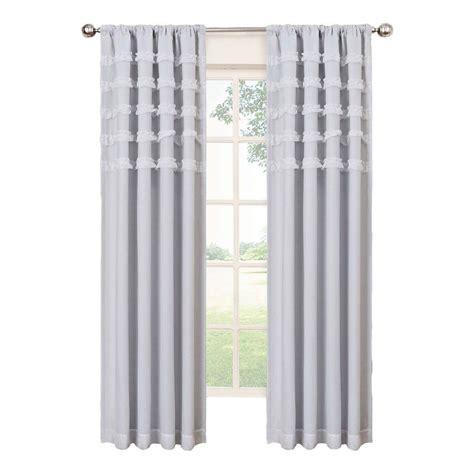 eclipse blackout curtains white eclipse ruffle batiste blackout white polyester rod pocket
