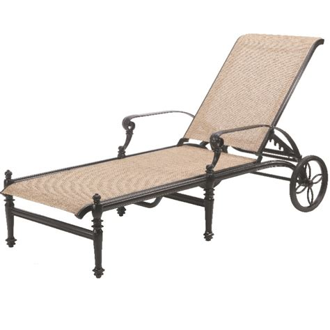 gensun grand terrace sling chaise lounge