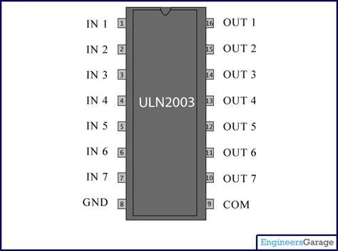 relay driver circuit  ic uln   working