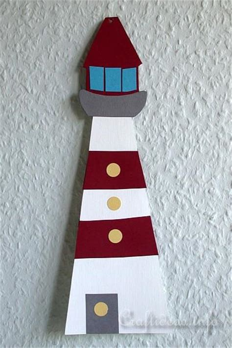 paper piecing craft  kids paper lighthouse