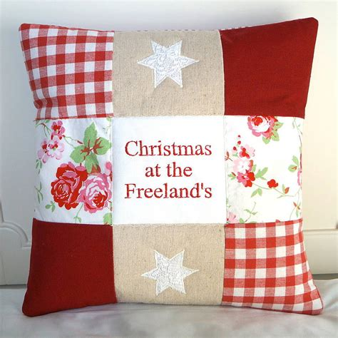 family christmas cushion by tuppenny house designs