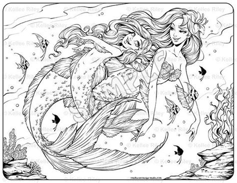underwater playtime adult coloring page mermaid coloring pages unicorn coloring pages