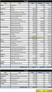 Home Renovation Budget Spreadsheet Excel