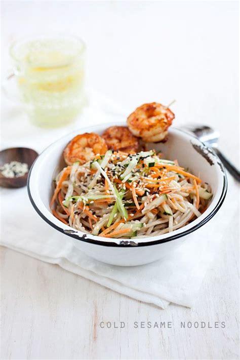 plats simple a cuisiner cold sesame noodles with butter pepper shrimp recipe