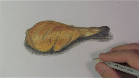 realistic chicken leg speed drawing youtube