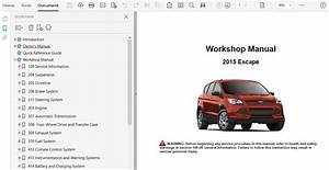 2015 Ford Escape Repair Manual