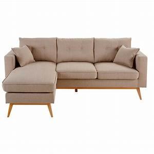 Canapé D Angle Modulable : canap d 39 angle modulable 4 5 places beige brooke maisons ~ Melissatoandfro.com Idées de Décoration