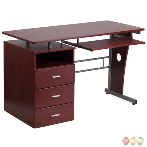 desk slide out shelf mahogany desk with three drawer pedestal and pull out