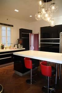 idee deco cuisine blanc et rouge With idee d co cuisine rouge