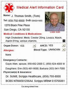 free medical alert card download with infographic With medical alert card template
