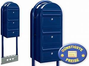 3er Briefkasten Freistehend : cenator briefkastenanlage 3 fach schwarzblau freistehend cenator bf 537 ~ Frokenaadalensverden.com Haus und Dekorationen