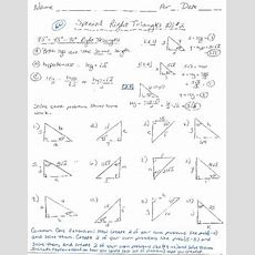454590 Right Triangles Worksheet By Delora Washington's Math And French Store