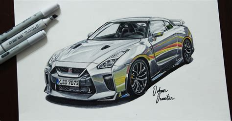 2017 Nissan Gtr R35 Marker Drawing By Me