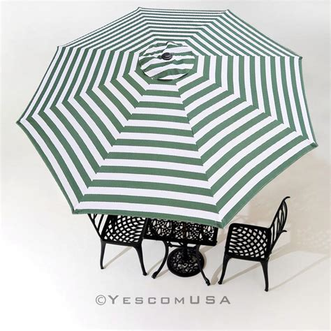 9ft green white umbrella replacement canopy patio outdoor