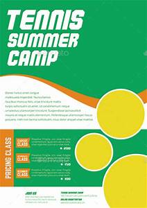 Keynote Game Show Template Tennis Camp Flyer By Monggokerso Graphicriver