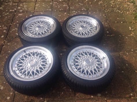 lenso bsx 4x100 lenso bsx 4x100 16inch alloy wheels with tyres bbs style e30 golf caddy in worthing west
