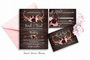 marsala wedding invitation printable boho wedding invitation With etsy marsala wedding invitations