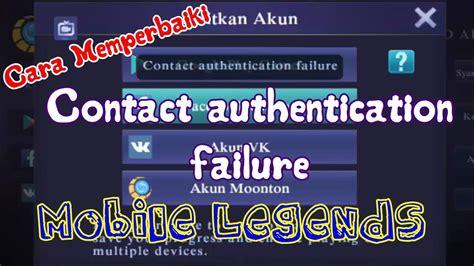 Cara Memperbaiki Contact Authentication Failure Pada