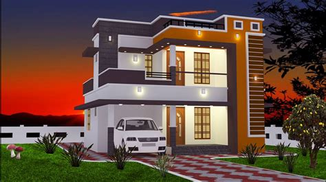 modern house designs and floor plans 2 bhk modern floor budget home design at 965 sq ft