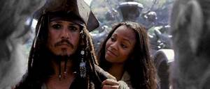 Zoe Saldana and Pirates of the Caribbean: The Curse of the ...