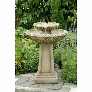 Bird bath outdoor water fountain outdoor water fountains for Backyard water fountains