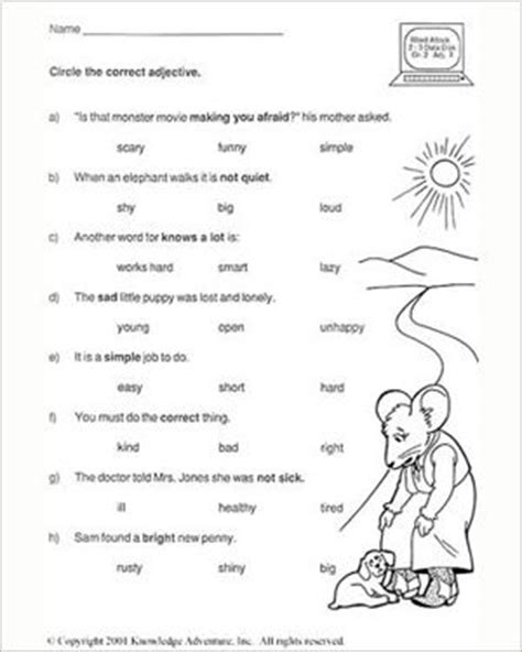 test your word power vi free grade 2 worksheet