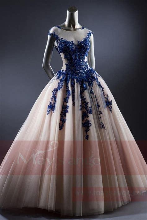 robe de mariée et blanche dentelle robe de mari 233 e princesse blanc et dentelle bleu
