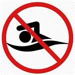 Swimming Swim Icon Danger Banned Prohibited Editor