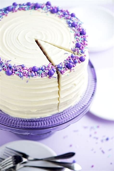 Purple Cake Decorating Ideas - 5 sprinkle cake decorating ideas food network canada