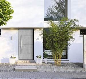 porte dentree beton decorer sa maisonfr With porte d entrée alu avec serviteur salle de bains inox